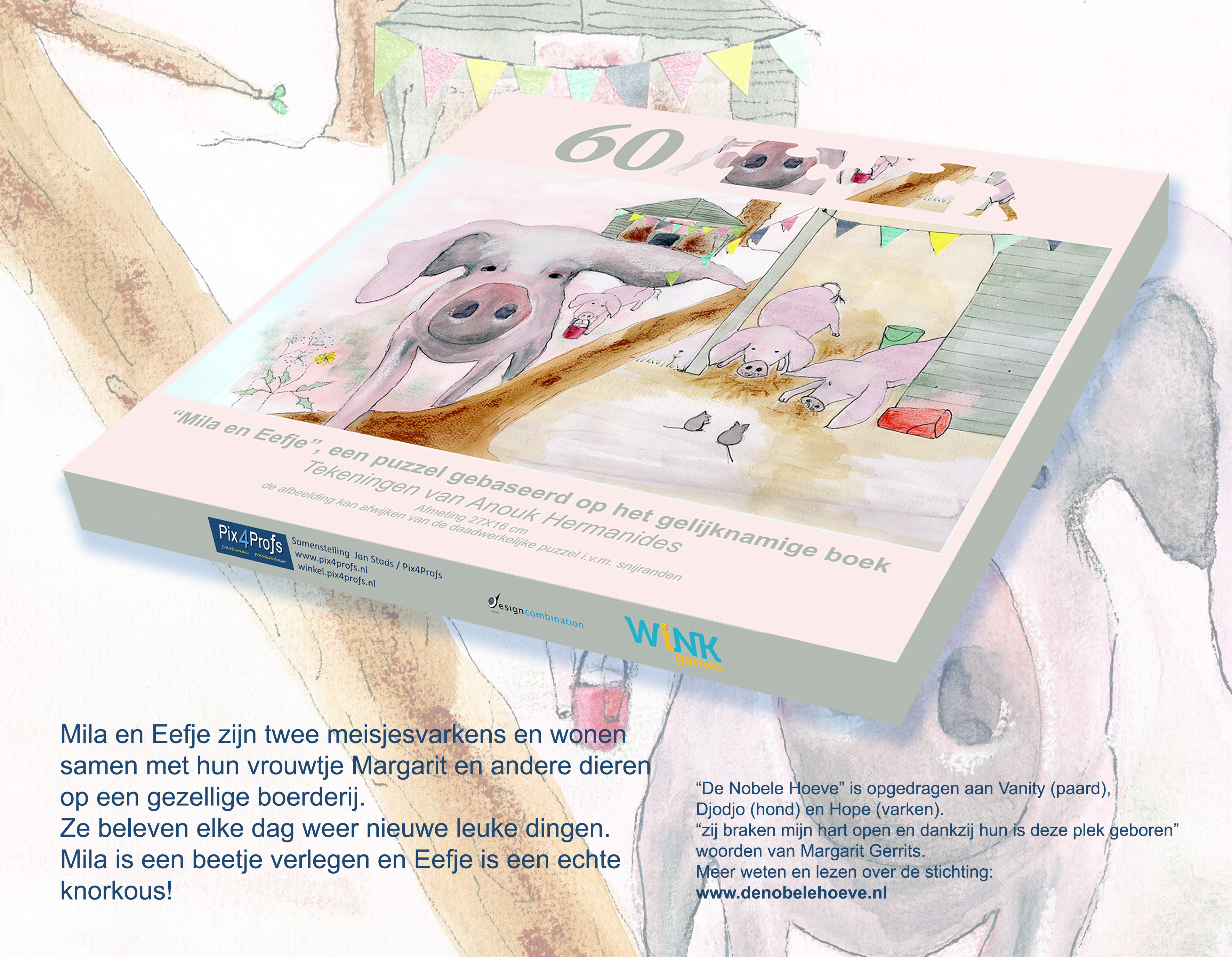 Mila en Eefje, een legpuzzel voor kinderen VOORVERKOOP